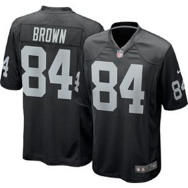 Discount Antonio Brown #84 Nike Men's Oakland Raiders Home Game Jersey