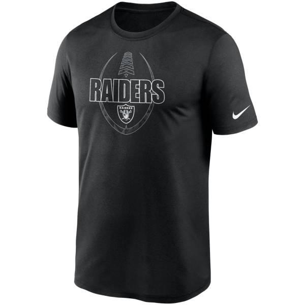 Nike Men's Las Vegas Raiders Legend Icon Black T-Shirt product image