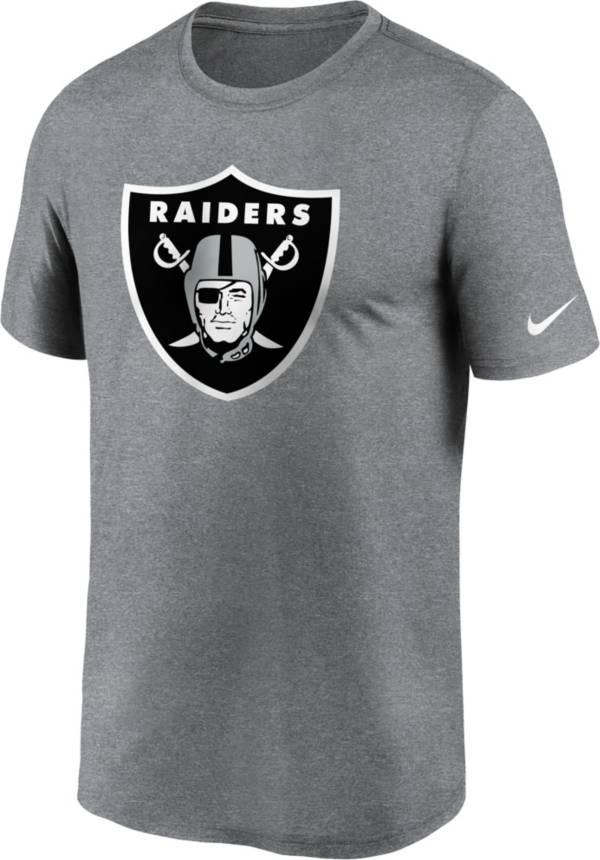 Nike Men's Las Vegas Raiders Legend Logo Grey T-Shirt product image