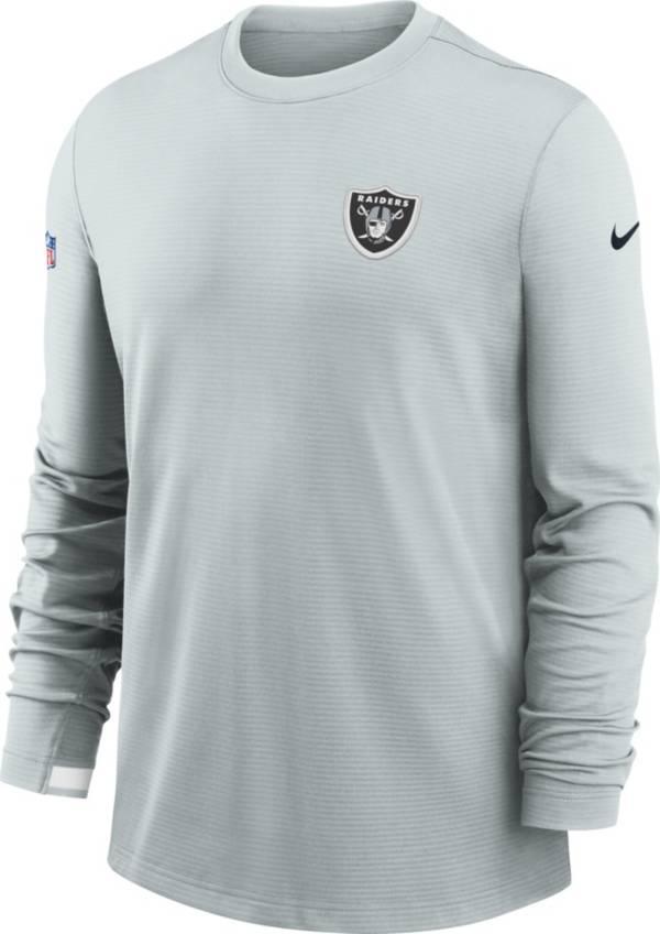 Nike Men's Las Vegas Raiders Dri-FIT Silver Long Sleeve Crew product image