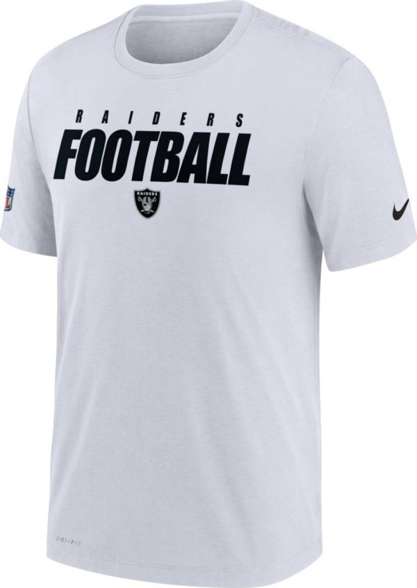 Nike Men's Las Vegas Raiders Sideline Dri-FIT Cotton Football All White T-Shirt product image