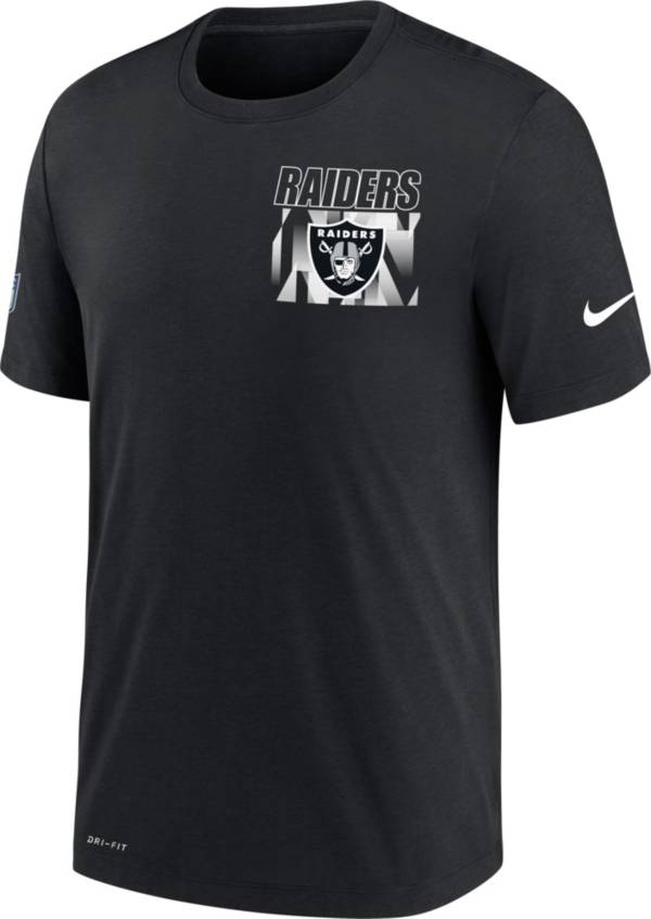 Nike Men's Las Vegas Raiders Sideline Dri-FIT Cotton Facility Black T-Shirt product image