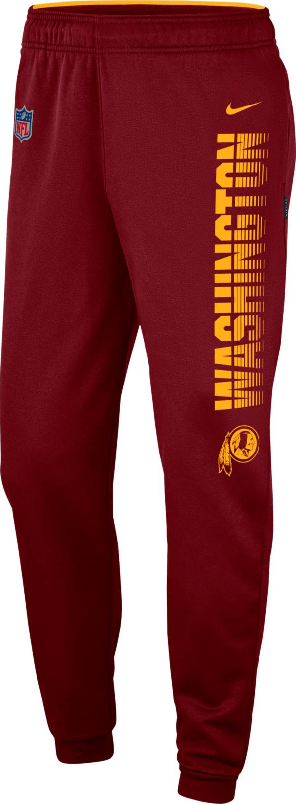 Nike Men's Washington Redskins Sideline Therma-FIT Performance Red Pants product image