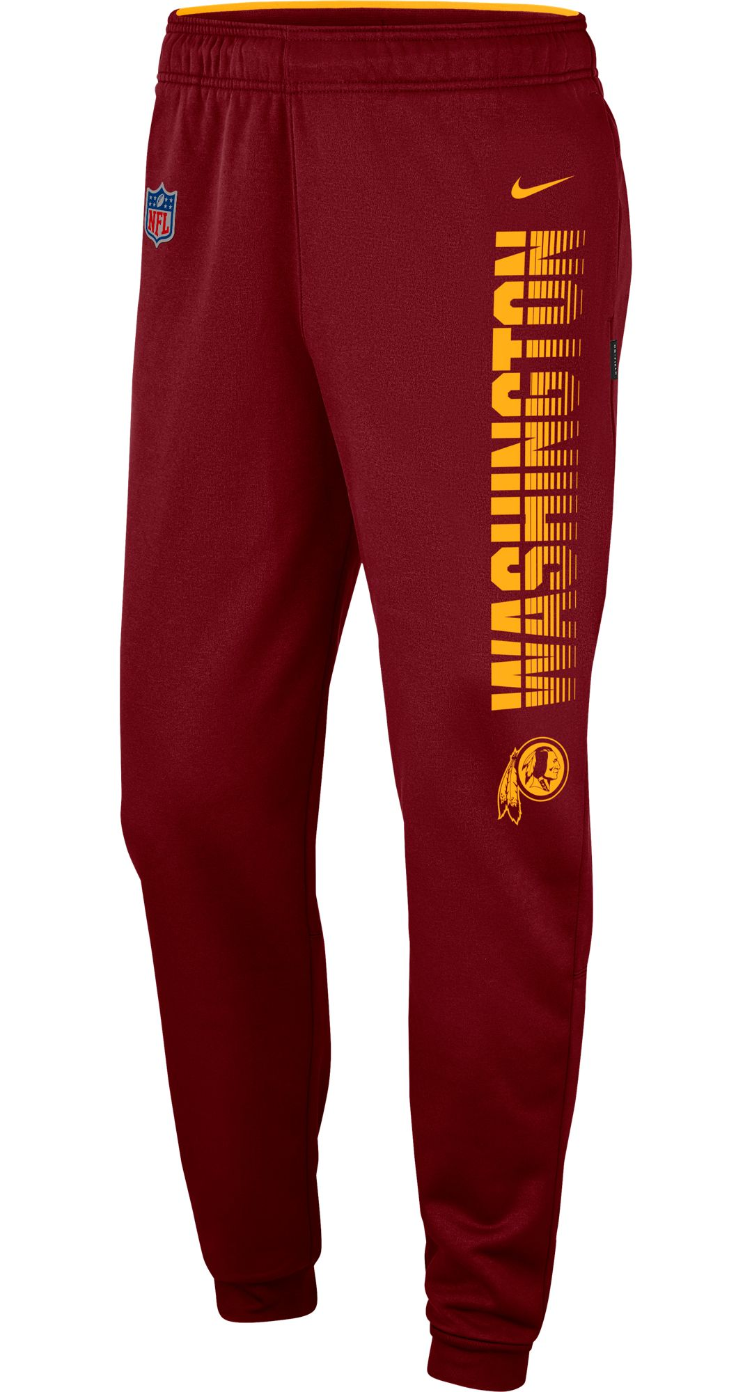 d5808d3a Nike Men's Washington Redskins Sideline Therma-FIT Performance Red Pants