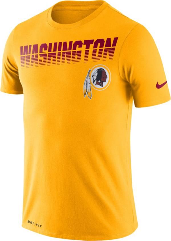 Nike Men's Washington Redskins Sideline Legend Performance Gold T-Shirt product image