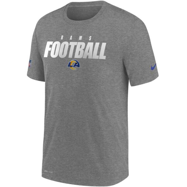 Nike Men's Los Angeles Rams Sideline Dri-FIT Cotton Football All Grey T-Shirt product image