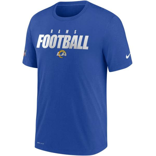 Nike Men's Los Angeles Rams Sideline Dri-FIT Cotton Football All Royal T-Shirt product image