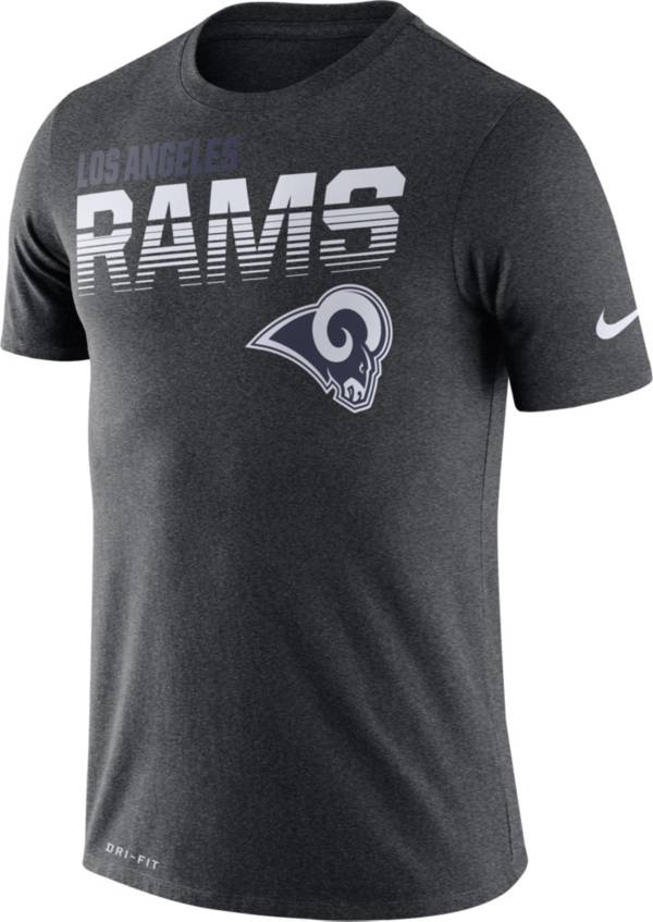 Nike Men's Los Angeles Rams Sideline Legend Performance Charcoal T-Shirt product image