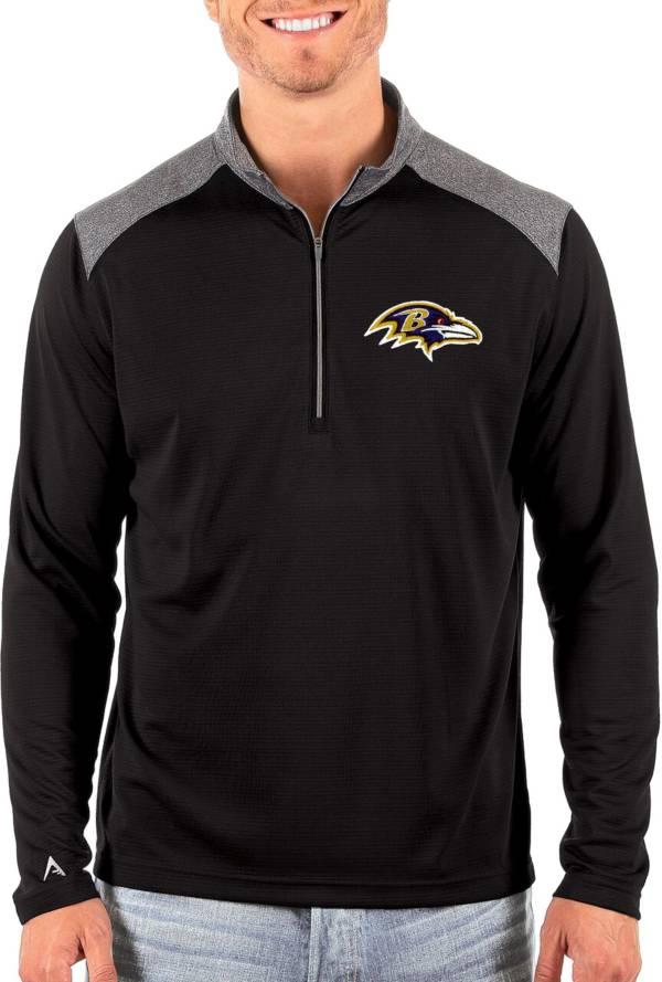 Antigua Men's Baltimore Ravens Velocity Black Quarter-Zip Pullover product image