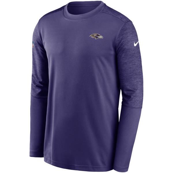 Nike Men's Baltimore Ravens Coaches Sideline Long Sleeve Shirt product image