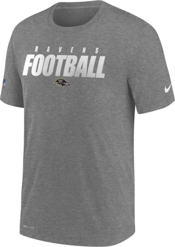 Nike Men's Baltimore Ravens Sideline Dri-FIT Cotton Football All Grey T-Shirt product image
