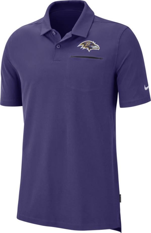 Nike Men's Baltimore Ravens Sideline Elite Performance Purple Polo product image