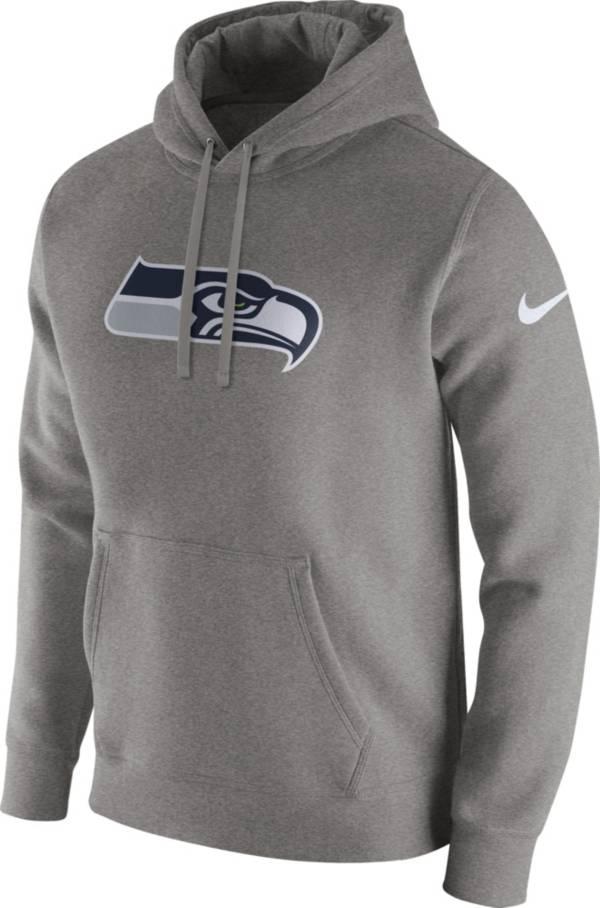 Nike Men's Seattle Seahawks Logo Club Grey Hoodie product image
