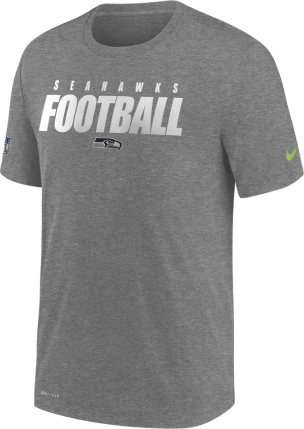 Nike Men's Seattle Seahawks Sideline Dri-FIT Cotton Football All Grey T-Shirt product image