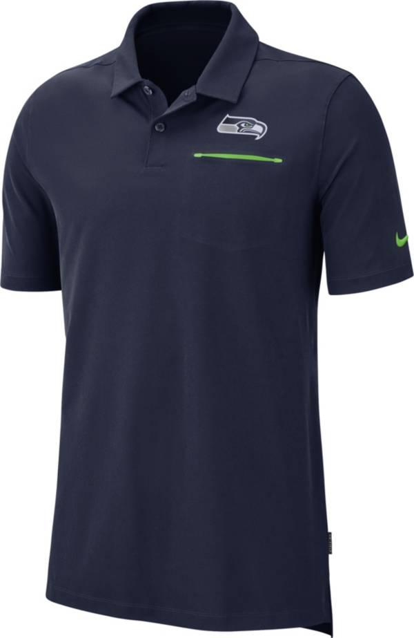Nike Men's Seattle Seahawks Sideline Elite Performance Navy Polo product image