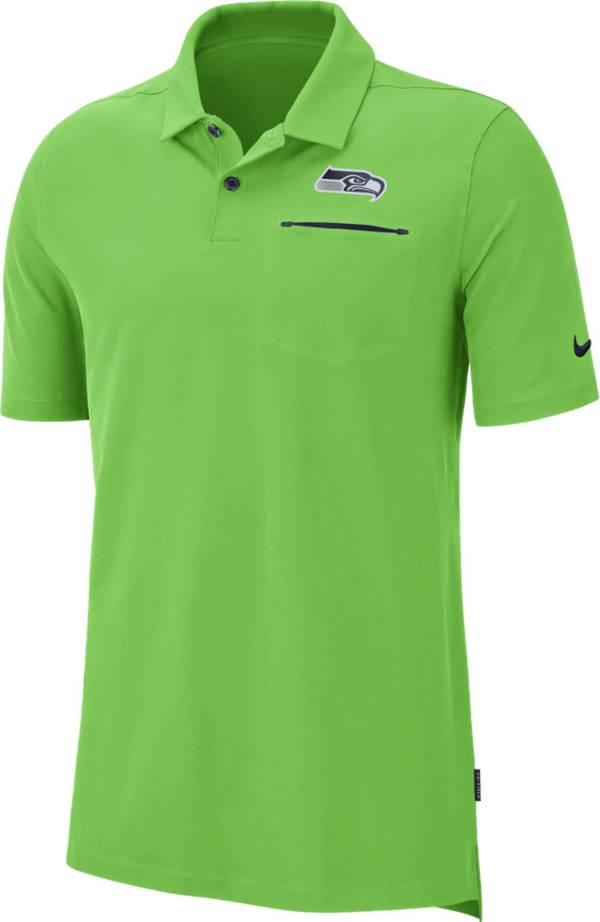 Nike Men's Seattle Seahawks Sideline Elite Performance Green Polo product image