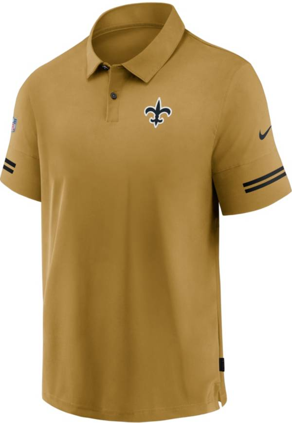 Nike Men's New Orleans Saints Sideline Coaches Gold Polo product image