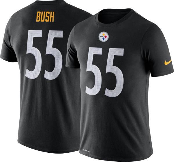 Nike Men's Pittsburgh Steelers Devin Bush #55 Black T-Shirt product image