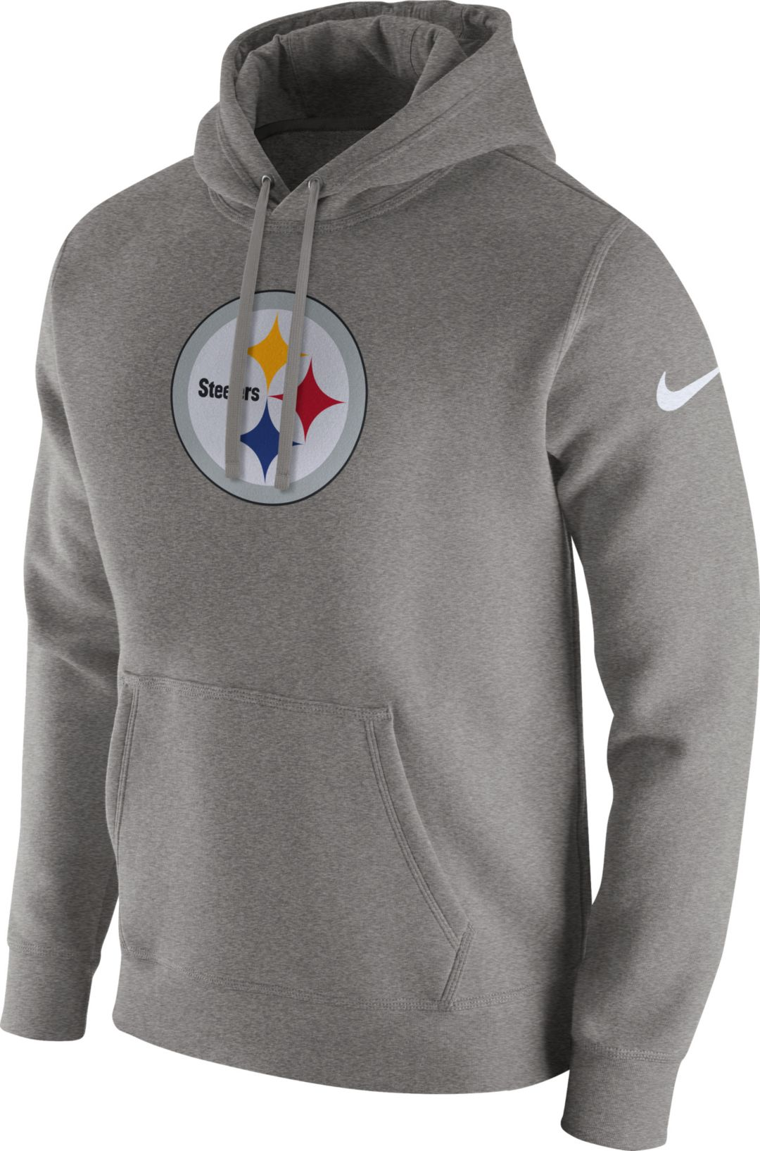 4199a2a7 Nike Men's Pittsburgh Steelers Logo Club Grey Hoodie