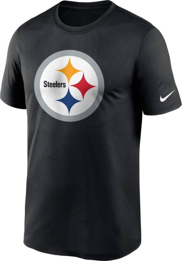 Nike Men's Pittsburgh Steelers Legend Logo Black T-Shirt product image