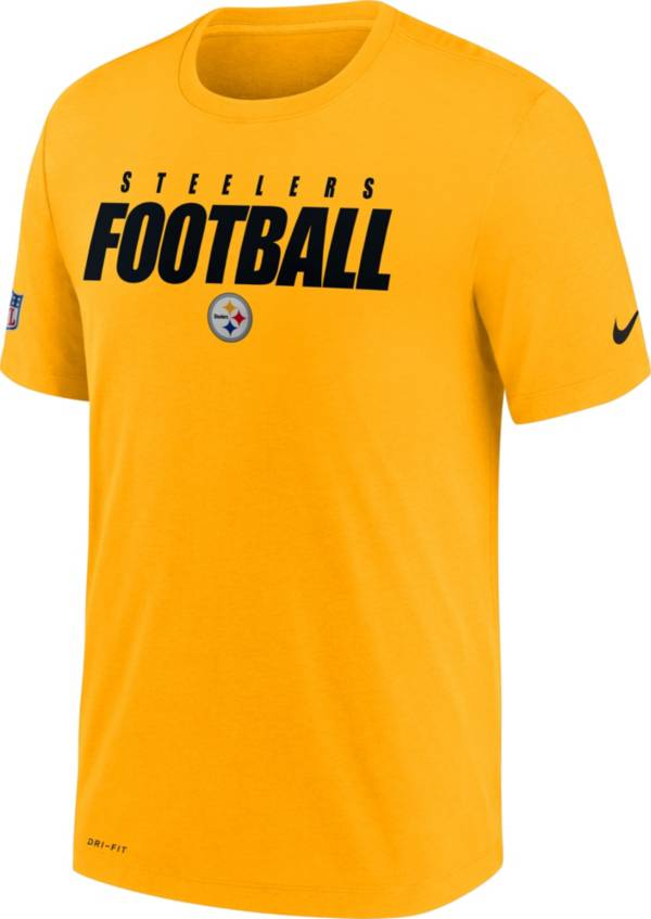 Nike Men's Pittsburgh Steelers Sideline Dri-FIT Cotton Football All Gold T-Shirt product image