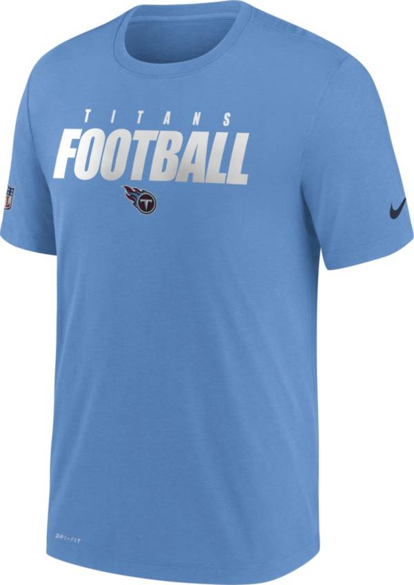 Nike Men's Tennessee Titans Sideline Dri-FIT Cotton Football All Light Blue T-Shirt product image