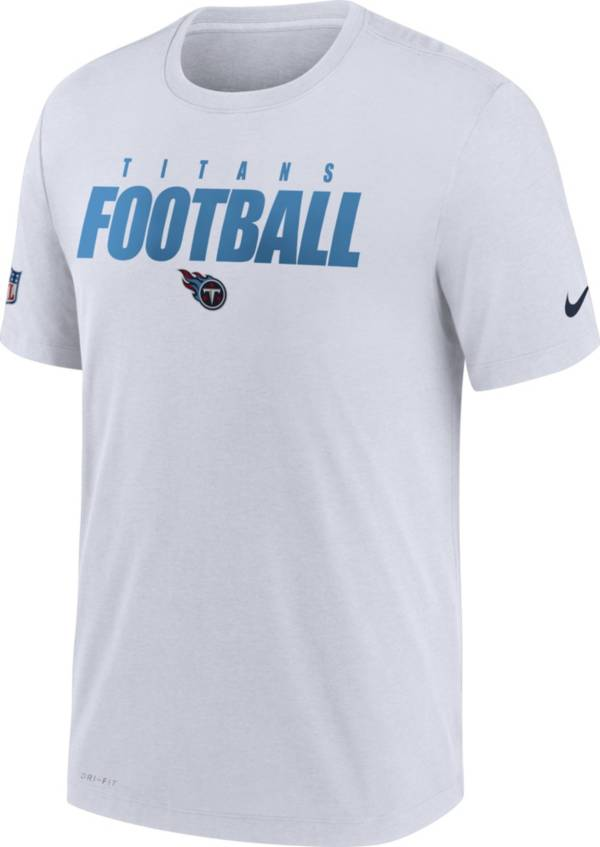 Nike Men's Tennessee Titans Sideline Dri-FIT Cotton Football All White T-Shirt product image