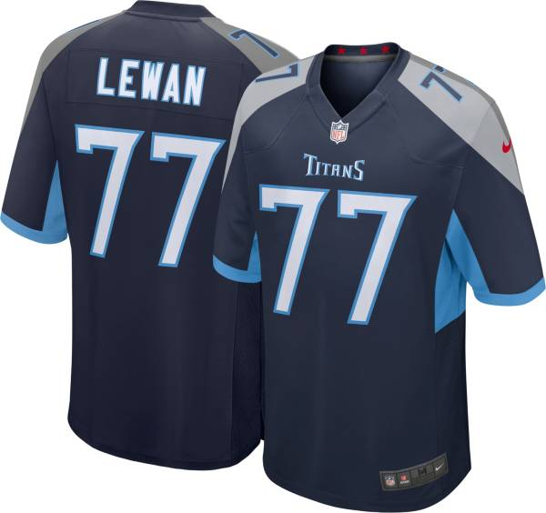 Nike Men's Tennessee Titans Taylor Lewan #77 Navy Game Jersey product image