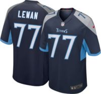 Nike Men's Tennessee Titans Taylor Lewan #77 Navy Game Jersey
