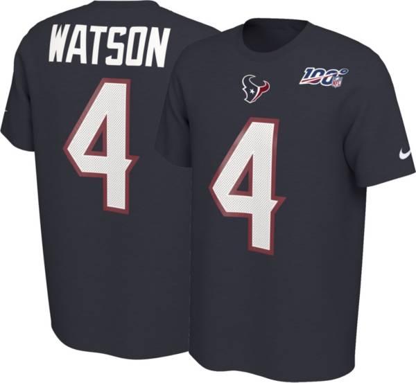 Nike Men's Houston Texans Deshaun Watson #4 100th Navy T-Shirt product image