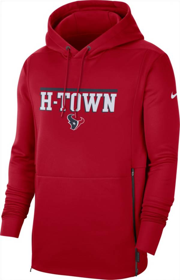 Nike Men's Houston Texans Sideline Therma-FIT Local Red Performance Hoodie product image