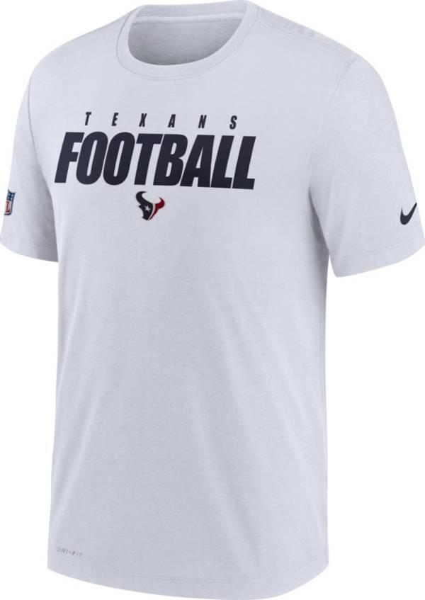 Nike Men's Houston Texans Sideline Dri-FIT Cotton Football All White T-Shirt product image