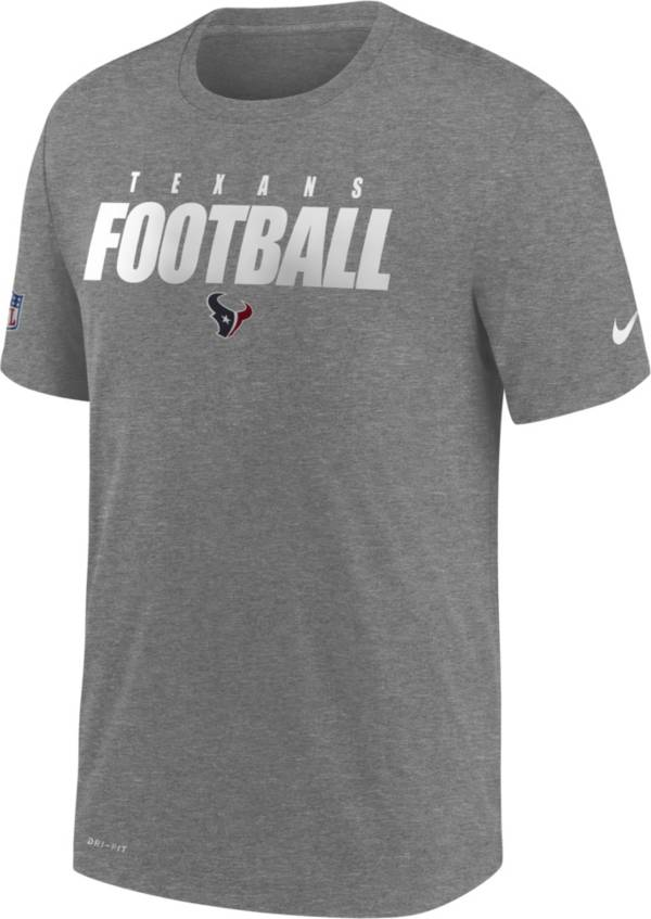 Nike Men's Houston Texans Sideline Dri-FIT Cotton Football All Grey T-Shirt product image