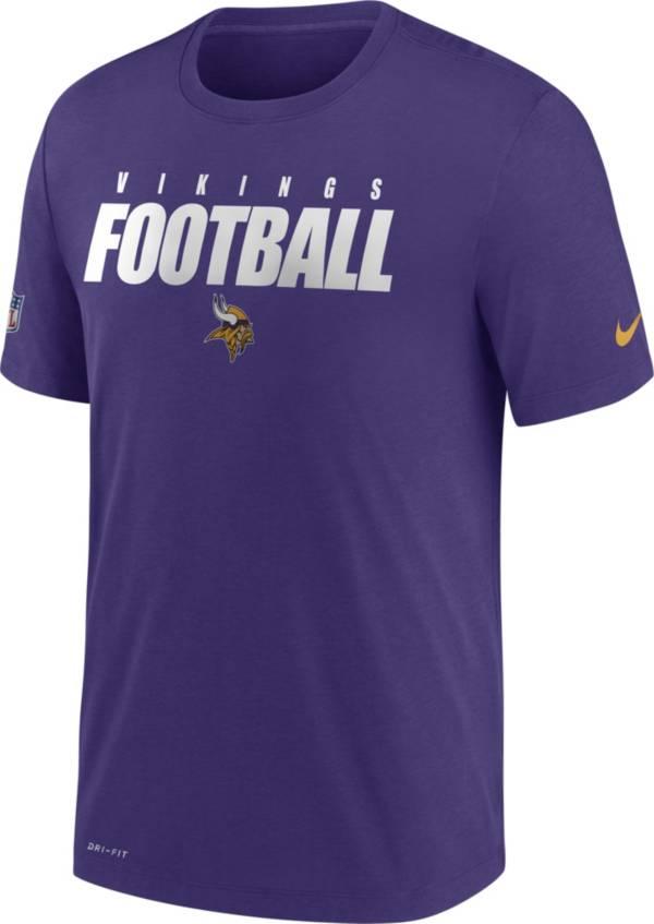 Nike Men's Minnesota Vikings Sideline Dri-FIT Cotton Football All Purple T-Shirt product image