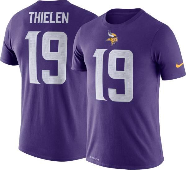 Nike Men's Minnesota Vikings Adam Thielen #19 Logo Purple T-Shirt product image
