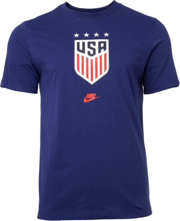 Nike Men's USA Soccer 4-Star Crest Blue T-Shirt product image