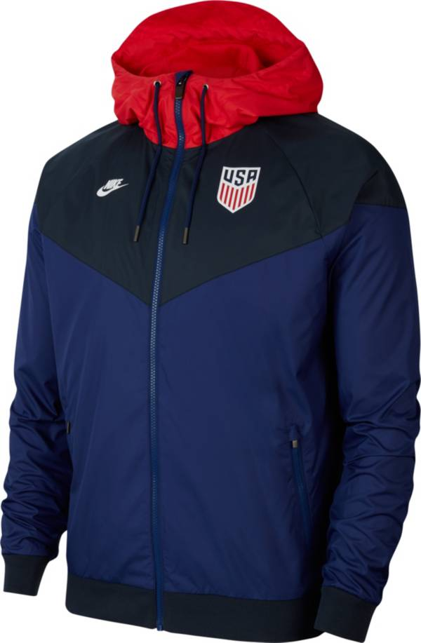 Nike Men's USA Soccer Windrunner Blue Full-Zip Jacket product image