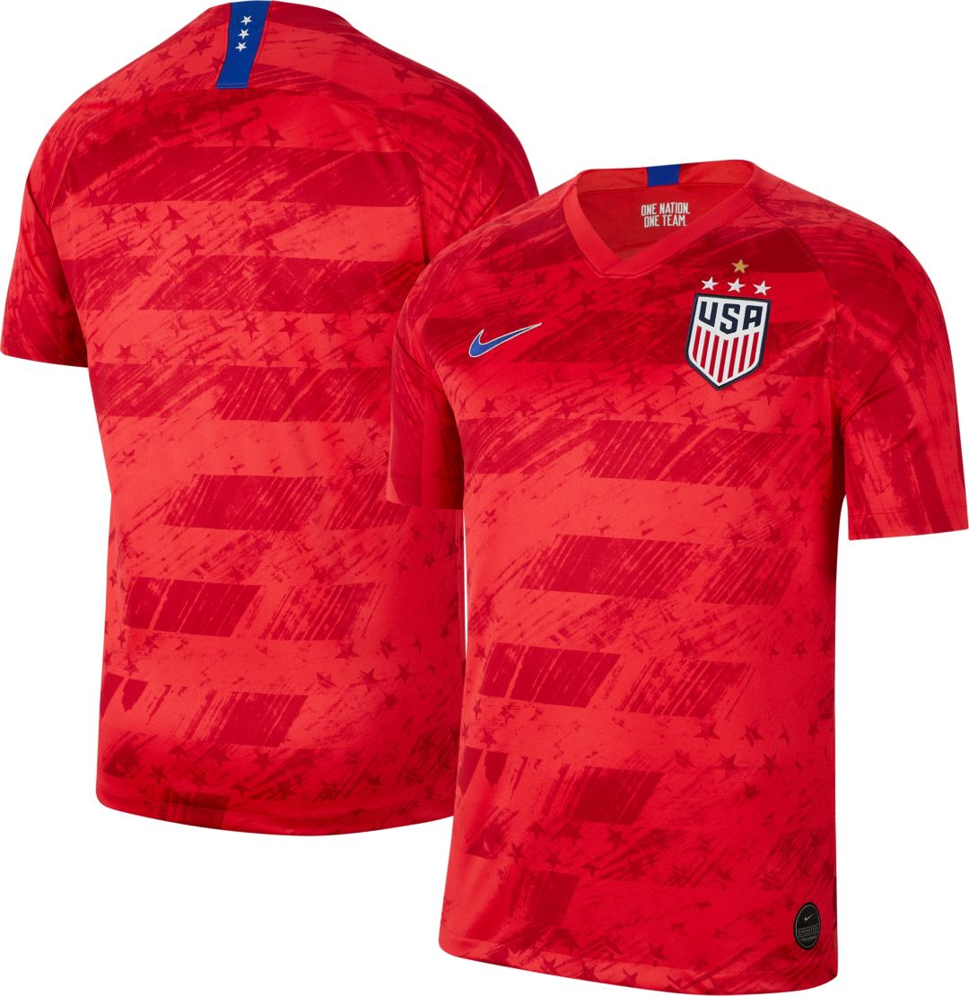ad2b12c0 Nike Men's 2019 FIFA Women's World Cup USA Soccer 4-Star Breathe Stadium  Away Replica Jersey