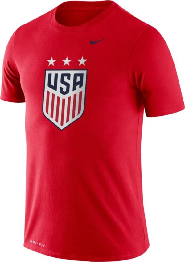 Nike Men's USA Soccer Legend Crest Red T-Shirt