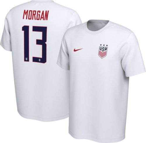 a1e7d5ee0 Nike Men s USA Soccer Alex Morgan  13 White Player T-Shirt. noImageFound.  Previous