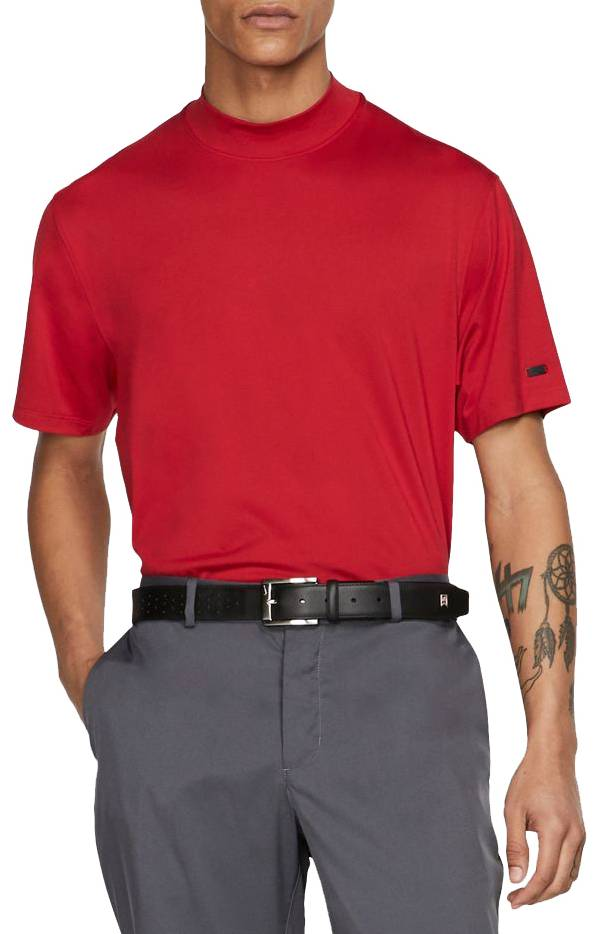 Nike Men's Tiger Woods Red Mock Neck Golf Polo product image