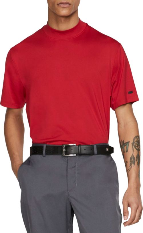 675bb8aa Nike Men's Tiger Woods Red Mock Neck Golf Polo. noImageFound. Previous