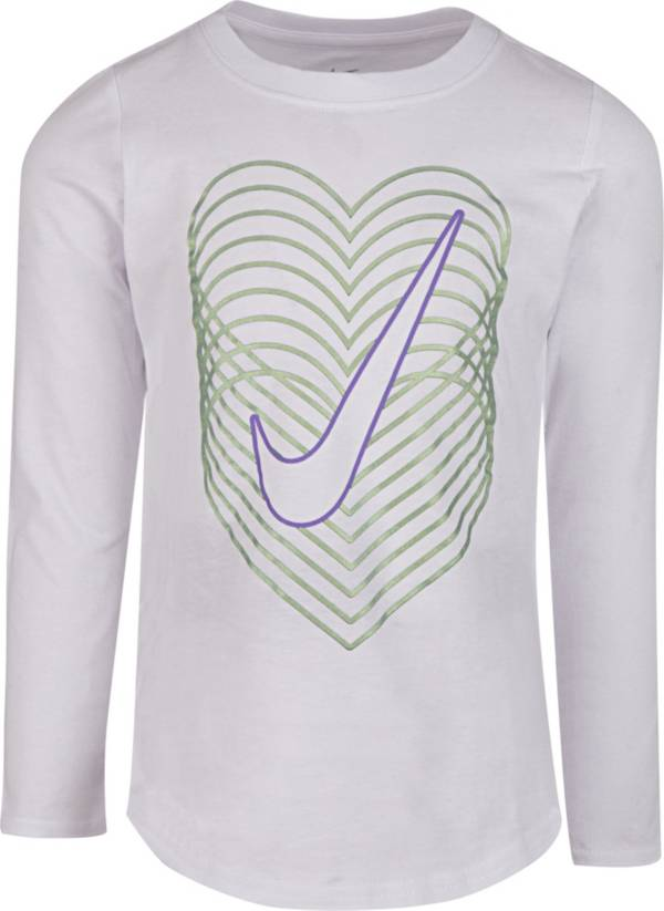 Nike Little Girls' Color Shift Graphic Long Sleeve Shirt product image