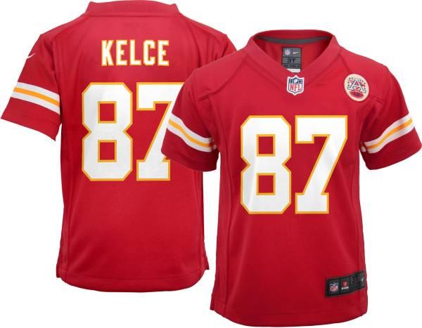 Nike Toddler Kansas City Chiefs Travis Kelce #87 Red Game Jersey