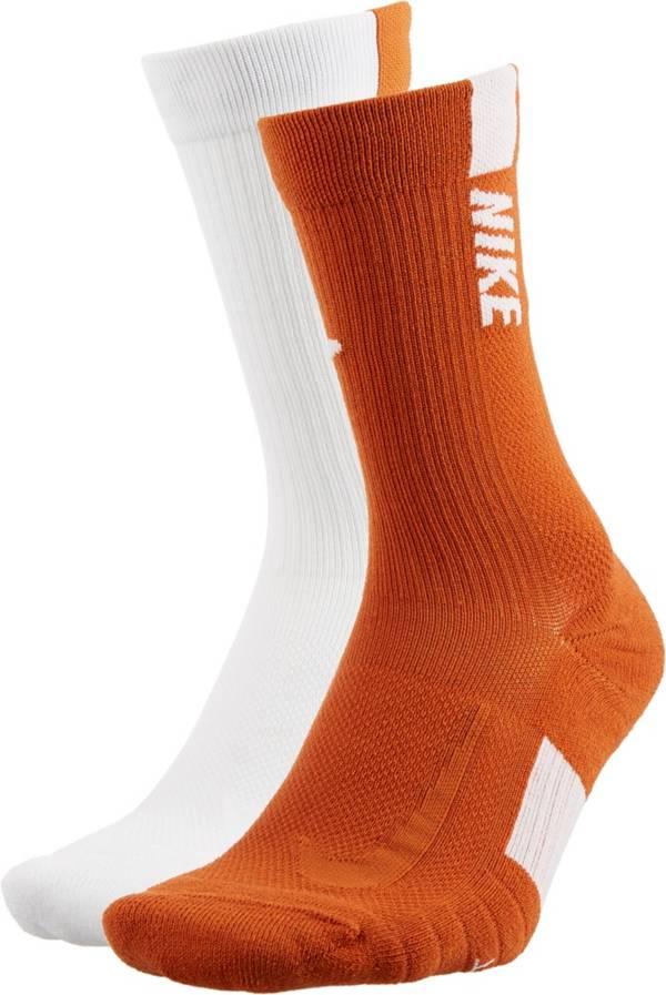 Nike Texas Longhorns Basketball Crew Socks 2 Pack product image