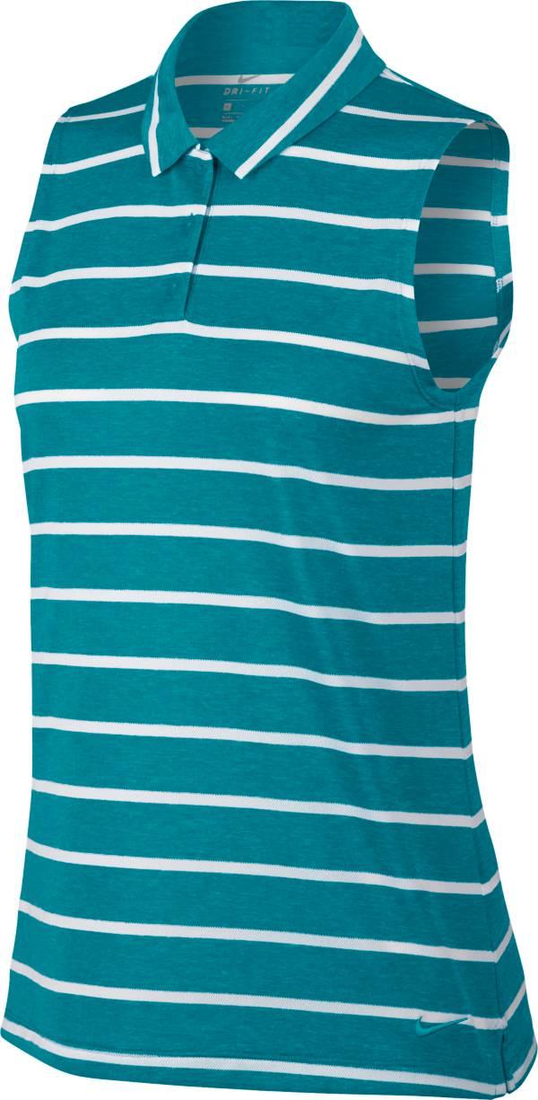 Nike Women's Dri-FIT Striped Sleeveless Golf Polo product image