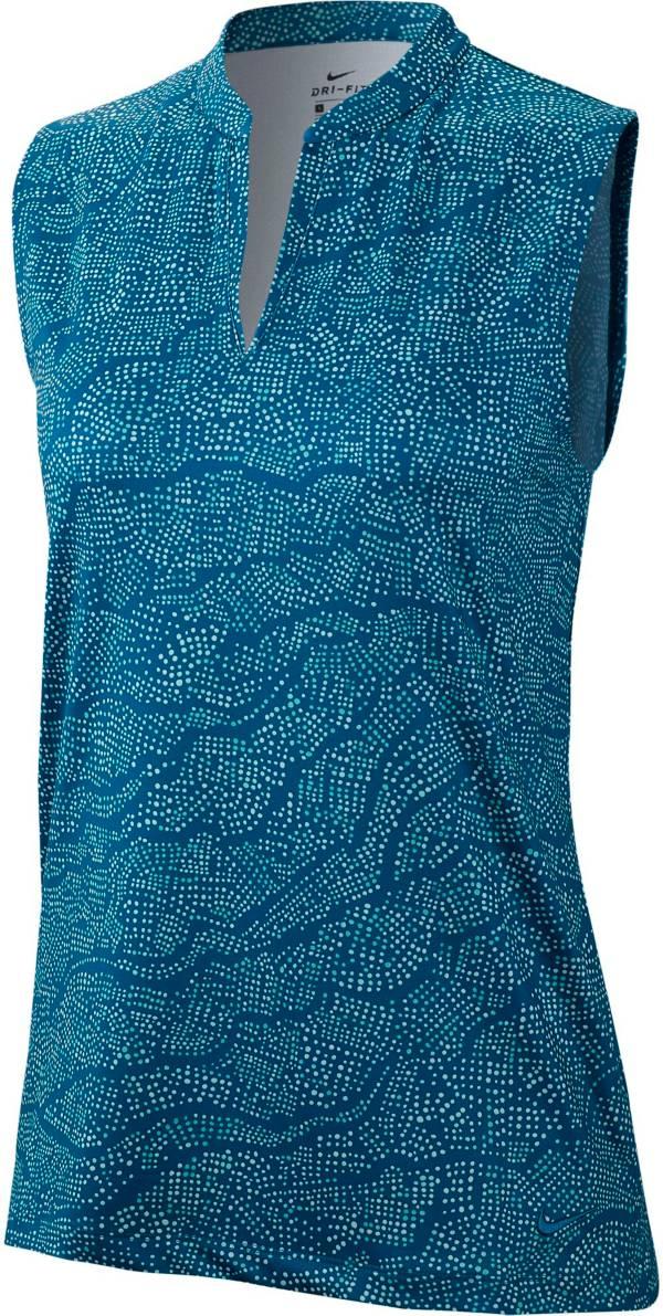 Nike Women's Dri-FIT UV Printed Sleeveless Golf Polo product image