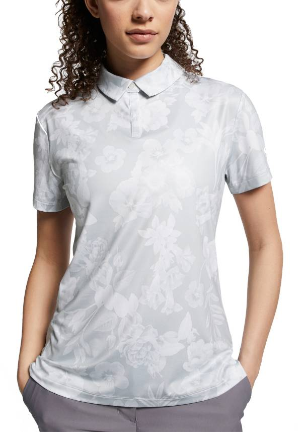 Nike Women's Dri-FIT Floral Printed Short Sleeve Golf Polo product image