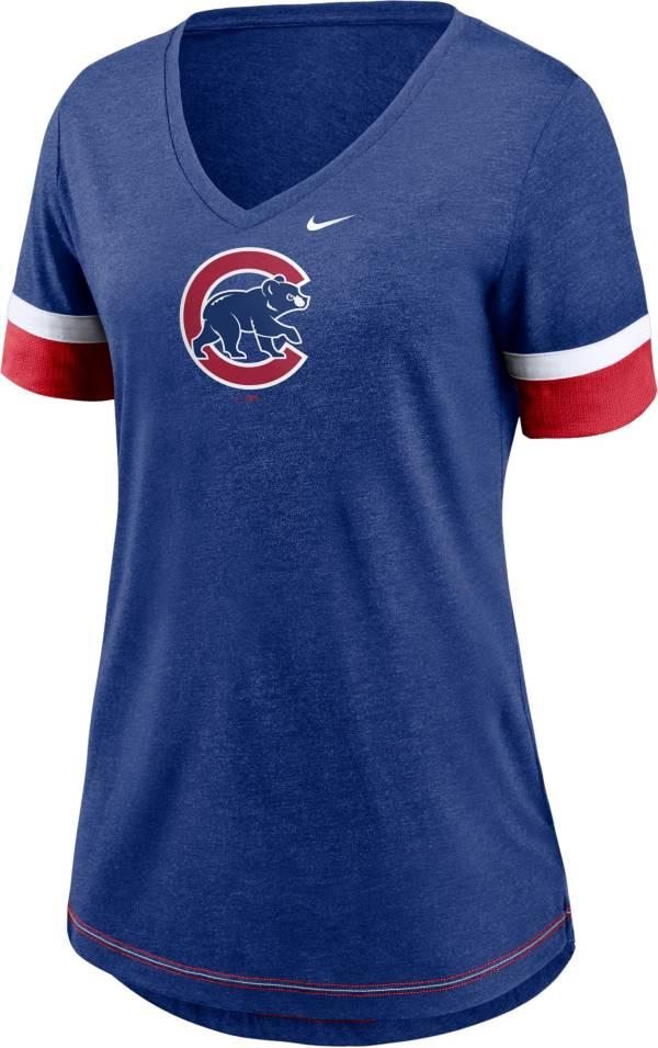 Nike Women's Chicago Cubs Blue Mesh Logo V-Neck T-Shirt product image