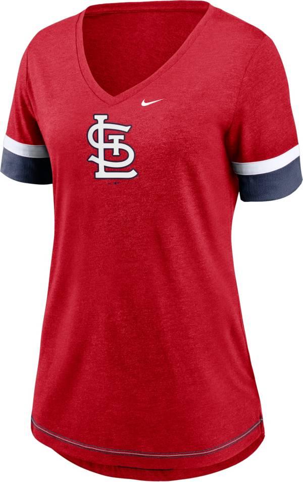 Nike Women's St. Louis Cardinals Red Mesh Logo V-Neck T-Shirt product image